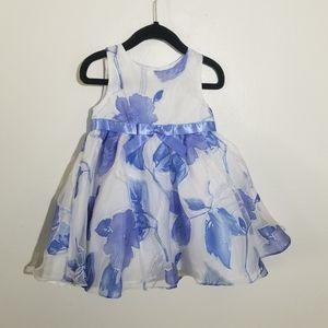 Emily Rose Floral Dress Toddler Girl White Purple